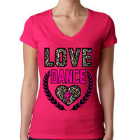 Love Dance Leopard Womens Sporty V