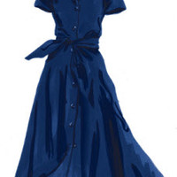 Short-Sleeve 1947 Dress