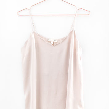 Scallop Trim Tank - Blush