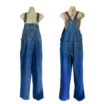 Women Denim Overall 90s Tommy Hilfiger Overall Women Bib Overall 90s Overall Dungarees Salopette Denim Overall Pants Blue Jean Over All