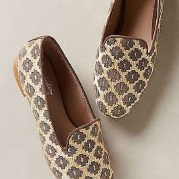 NIB Anthropologie Glitzed Smoking Loafers Sz 10 B - by Seychelles
