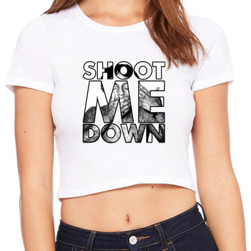Lil Wayne Shoot Me Down Mask Crop T-shirt