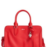 Alexander McQueen 'Small Padlock' Leather Duffel Bag