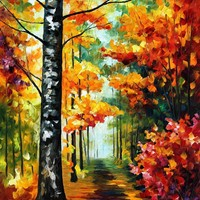 SOUL TIME — PALETTE KNIFE Oil Painting On Canvas By Leonid Afremov - Size 30x40. use 10% discount coupon - deviantart10off