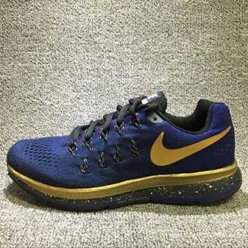 Nike Air Zoom Pegasus 33 LE MJ - Multi-Color Metallic Gold Women's Trail Running Shoes