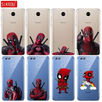 Deadpool Dead pool Taco Silicone phone Cover Case for huawei Y3 Y6 Y5 2 II  2017 nova 3e 2s 2 LITE plus soft tpu Super Marvel  coloured drawing AT_70_6