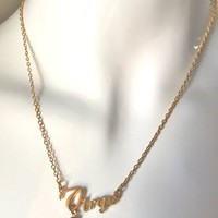 virgo gold necklace | michellabella.com