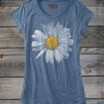 Juniors Country Girl ® Daisy Burnout Tee