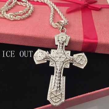 Shiny Jewelry Stylish New Arrival Gift High Quality Cross Rack Silver Club Accessory Necklace [6542738435]