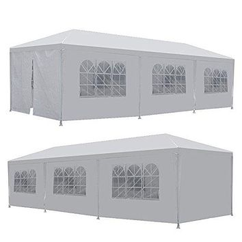 Outdoor 10' X 30' Party Gazebo Canopy Tent with Removable Sidewalls
