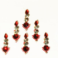 Bollywood Maroon Bindis / Tribal Bindi in New Styles.