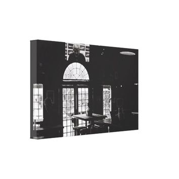 Kodak Film BNW Bar Beer TV Windows Canvas Print