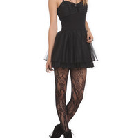 Royal Bones Black Corset Dress | Hot Topic