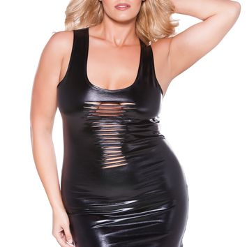 Allure Kitten Plus Flirty Risque Mini Dress O/S-X