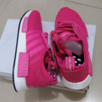"""""""ADIDAS"""" Fashtion Running NMD Sport Casual Shoes Sneakers Rose red G-MDTY-SHINING"""