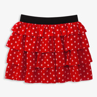 Ruffled Polka Dot Skirt