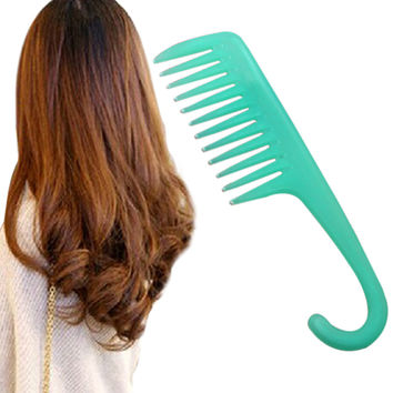 High Quality Plastic Heat-resistant Large Wide Tooth Comb Detangling Hairdressing Comb Hot