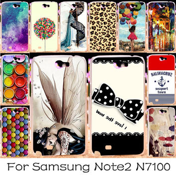 Multi Styles Dreamcatcher Telephone Booth Letters Series Hard cell phone cases For Samsung galaxy Note II Note 2 Note2 N7100