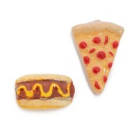 Snack Attack Pizza + Hotdog Earrings