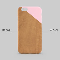 iPhone case - Pastel pink edge of wood pattern- iPhone 6 case, iPhone 6 Plus case, iPhone 5s case, iPhone 5 case non-glossy