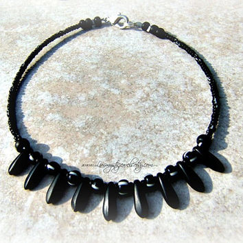 Beach Black Anklet, Beach Jewelry, Direct Checkout, Ready To Ship,