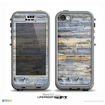 The Vintage Wooden Planks with Yellow Paint copy Skin for the iPhone 5c nüüd LifeProof Case
