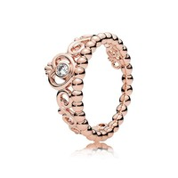Pandora My Princess Tiara Ring, Pandora Rose, Clear CZ, 9 US, 180880CZ-60