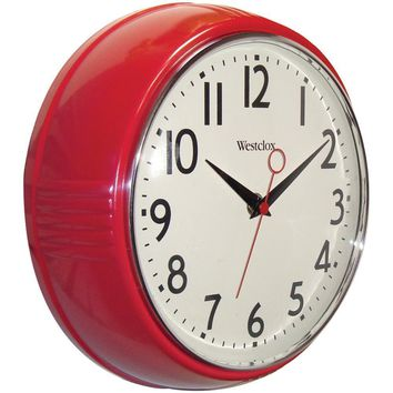 "Westclox 9.5"" Retro 1950s Kitchen Wall Clock NYL32042R"