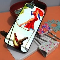 JESSICA RABBIT HAUNTED MANSION - NDR - iPhone 5 case Black/White Case
