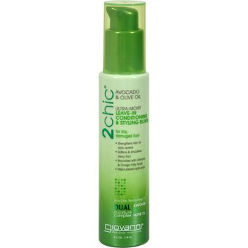 Giovanni Hair Care Products Leave in Conditioner - 2Chic Avocado - 4 oz