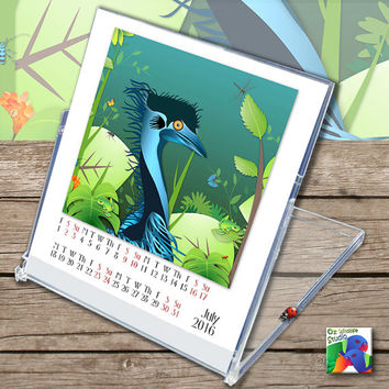 2016 - Desk Calendar - Australian Wildlife Friends - CD Jewel - Australia - Free Gift Wrapping
