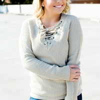 All The Good Things Sweater - Beige