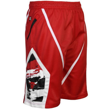 Chicago Bulls Zipway Kevin Shorts - Red