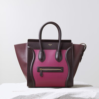 Mini Luggage Handbag Multicolour in Calfskin Satin