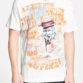 Men's Robert Graham 'Winston Churchill' V-Neck T-Shirt,