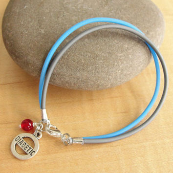 Diabetes Awareness Bracelet / Anklet - Diabetic Charm