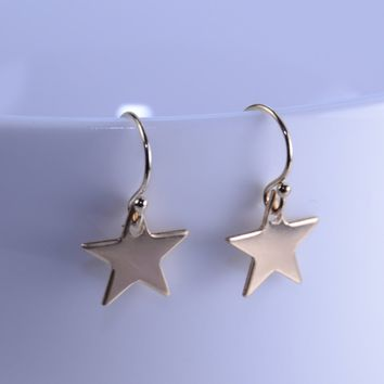 Star earrings, Gold star earrings, Tiny star earrings, Gold filled earrings