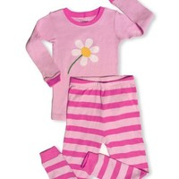 "Leveret Little Girl ""Blooming Flower"" 2 Piece Pajama 100% Cotton (2-8 Years)"