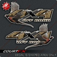 Ringneck Pheasant Hunting 4x4 Truck Camo Decal