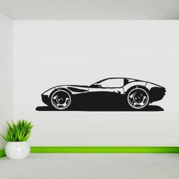 Wall Decal Art Decor Decals Sticker Car Race Sports Bolide Driving Fast Drive (M140)