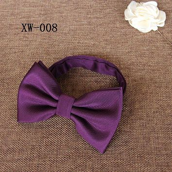 Men's Bow Tie Classic Striped Bow Ties For Men Casual Cravats Business Suits Bowknot Bow Tie For Wedding Party