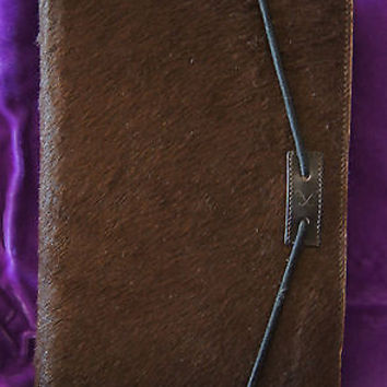 Frederic Fekkai Day Planner Western Style Brown Leather