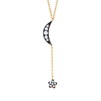 Shooting Star 0,20 ct Diamond Gold Necklace