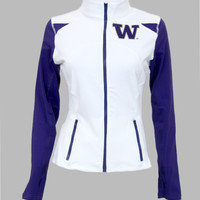 Washington Huskies Women's Yoga Jacket (White)