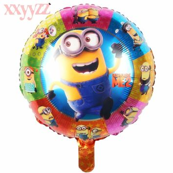 XXYYZZ Free Shipping Air Balls Minions Balloons Despicable Me balloon Helium Minion Party Decoration Balloon Printed Baby Gift
