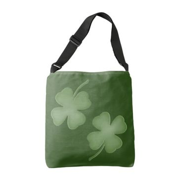 Four Leaf Clover Green Bag