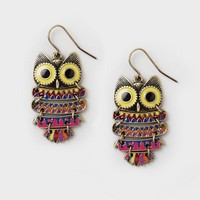 Owl Drop Earrings  | Claire's