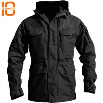 d903b76e3029d TENNEIGHT M65 Military tactical Windbreaker men Winter Autumn Outdoor  Battlefield Jacket Flight Pilot Coat Hoodie Field