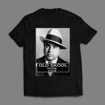OLD SKOOL GANGSTER AL CAPONE MUGSHOT T-SHIRT