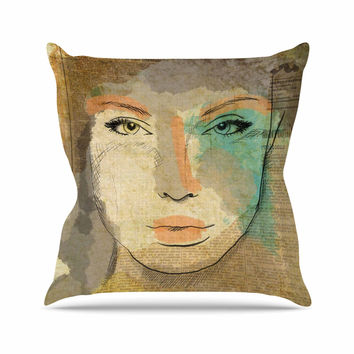 "Carina Povarchik ""Agata"" Brown People Throw Pillow"